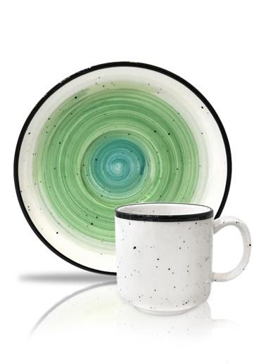 Arow Yeşil 6'Lı Türk Kahvesi Fincan Seti Yeşil
